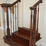 Stair Display Albuquerque - Dark wood & iron