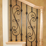 Stair Display Albuquerque - Light Wood & Decorative Iron